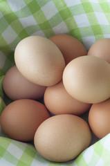 Pile of Eggs in Gingham