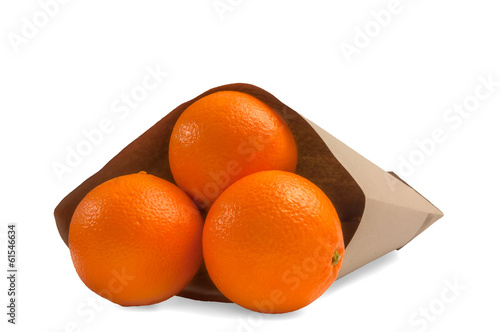 Shopping bag with orange