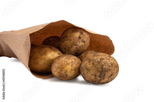 Paperbag with potatoes