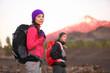 Hiking people on mountain