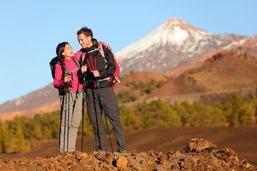 Healthy active lifestyle - Hiker people hiking