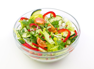Fresh salad in the bowl