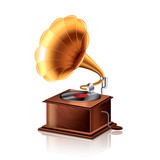 Classic gramophone vector illustration
