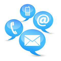 Contact Us Web Icons Clouds