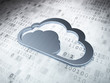 Cloud computing concept: Silver Cloud on digital background