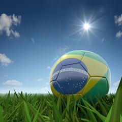 Fussball Brasilianische Farben