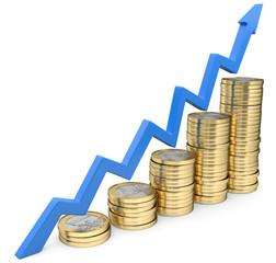 Münzentreppe Wachstumspfeil