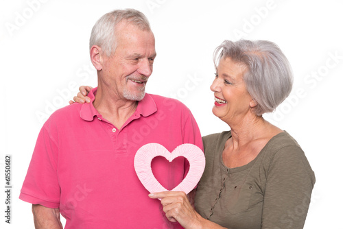 Senior couple with heart