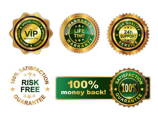 Golden green badges guarantee