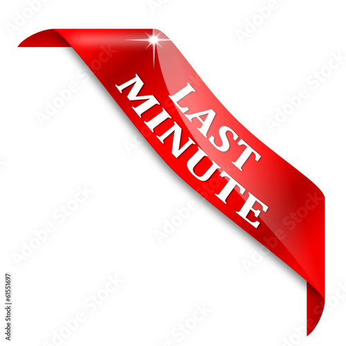 "Red corner with the words ""last minute"" - vector"