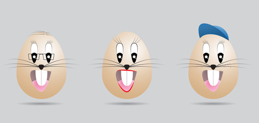 easter eggs family face