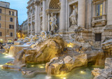 Close-up view of Trevi Fountain