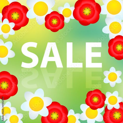 Spring and summer sale illustration