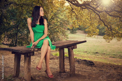 Beautiful young woman portrait outdoors