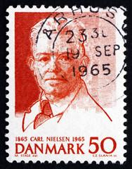 Postage stamp Denmark 1965 Carl Nielsen, Composer