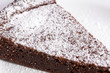 chocolate cake with sugar powder