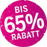 Sticker 65% Rabatt violett