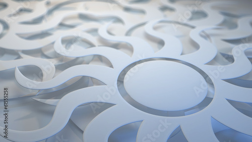 White layered sunburst background