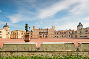 Famous palace in the suburbs of St. Petersburg