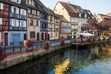 Colorful buildings taken on September 19, 2013 in Colmar, France