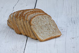 Sliced wheat bread