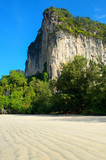 Cliff on beautiful Railay beach, Thailand