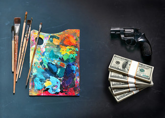 Art paints or crime?