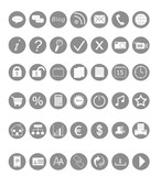 Set of icons for Web in gray color