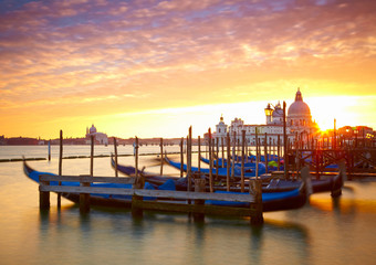Sunset over the Grand Canal. Venice, Italy