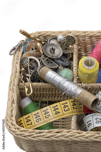 instruments of repairman clothing  on white background