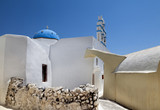 The typical church of Santorini at Emporio - Greece