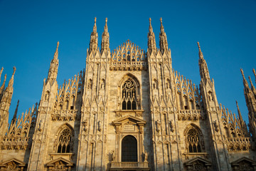 Duomo di Milano is the Gothic Cathedral Church of Milan, Italy