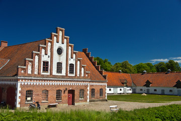 Outbuildings at Castle Dragsholm in Denmark.
