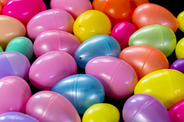 assortment of plastic Easter Eggs