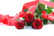 Beautiful roses with gift box