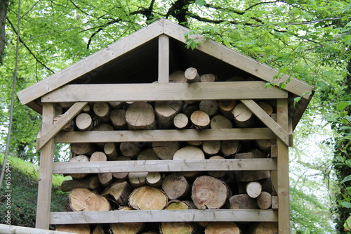 A Shelter to Store Wooden Fire Logs.