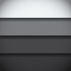 Background of four carbon fiber patterns