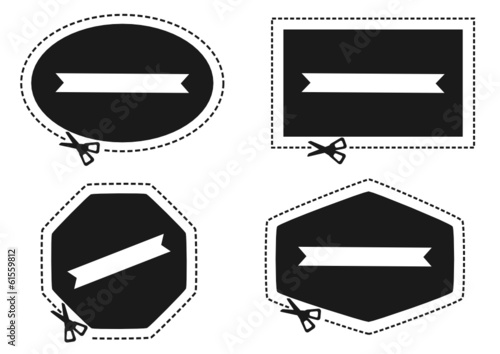 scissors cutting label border
