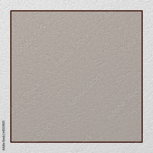 Virgin gray and white card with leather texture