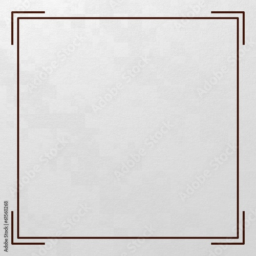Virgin textured white card with text window