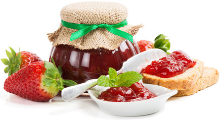 strawberry jam with toast