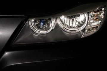 Car headlamp reflections