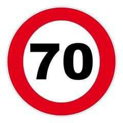 panneau de signalisation routière 70