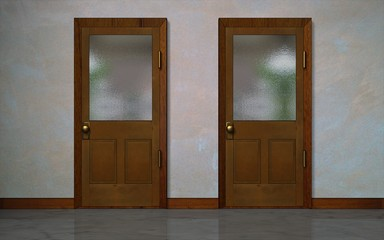 Illustration of 2 doors