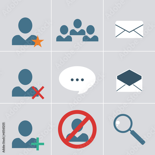 organizer  icon set