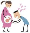 妊婦とお父さん