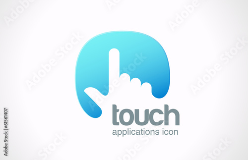 Logo Touch screen technology abstract vector. Touchscreen