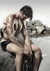 Fit bodybuilder