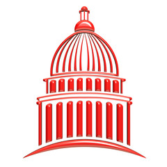 Capitol Building Red