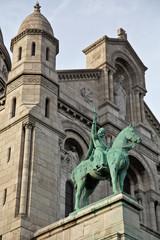 Statue on the Sacré-Coeur